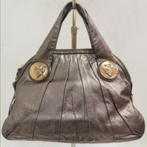 WOW Gucci Hysteria soft metallic calfskin hobo bag